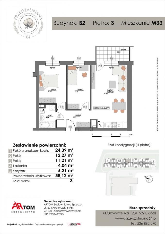 Apartament nr. M33