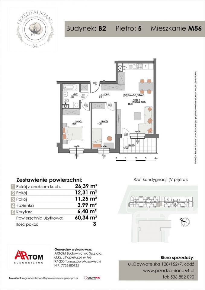 Apartament nr. M56