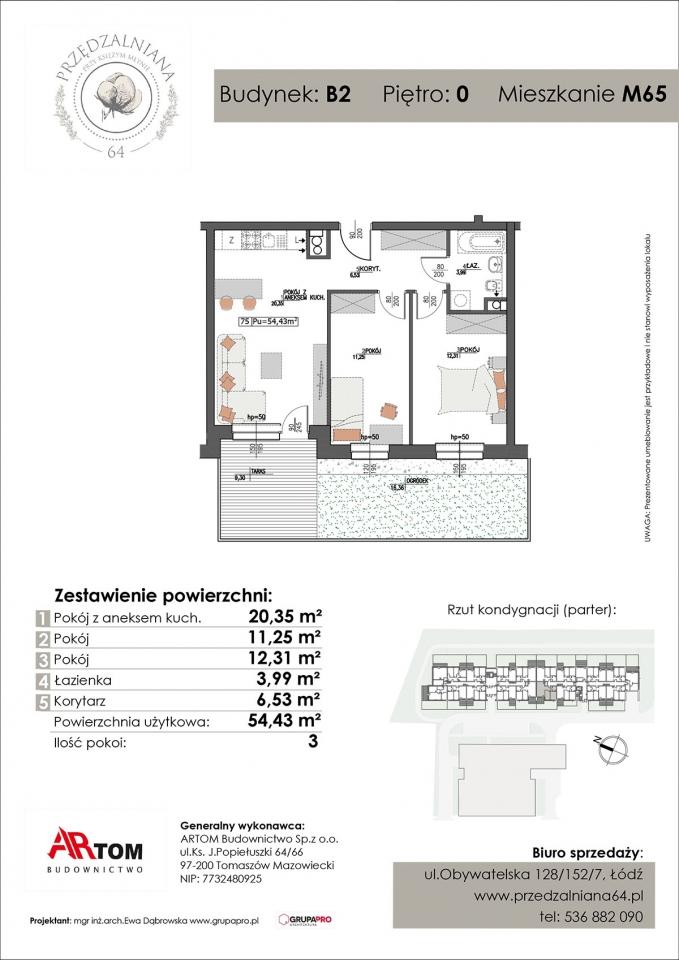 Apartament nr. M65