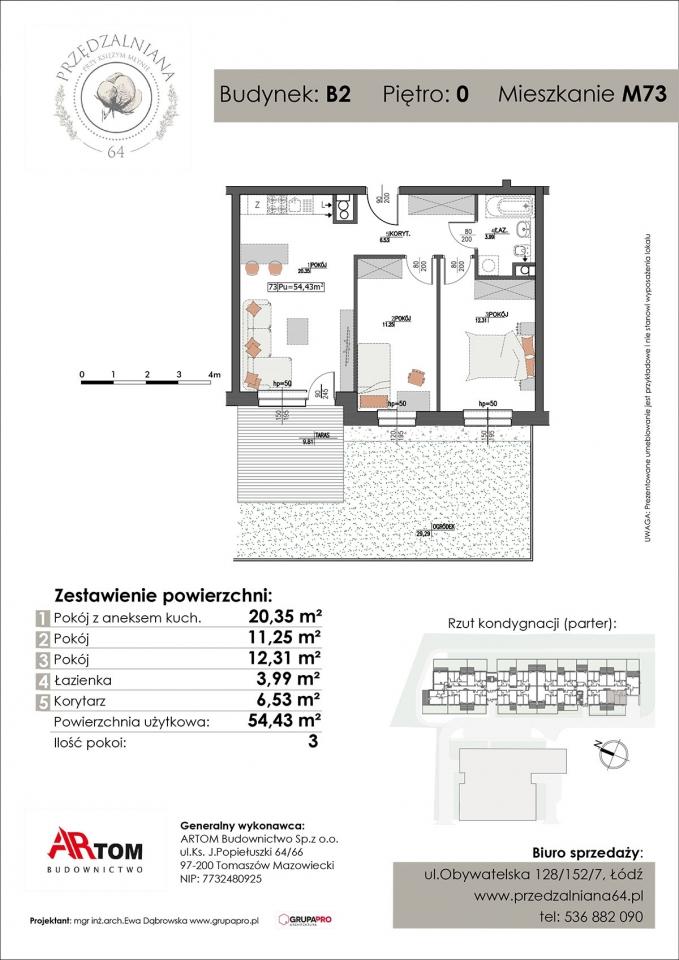 Apartament nr. M73