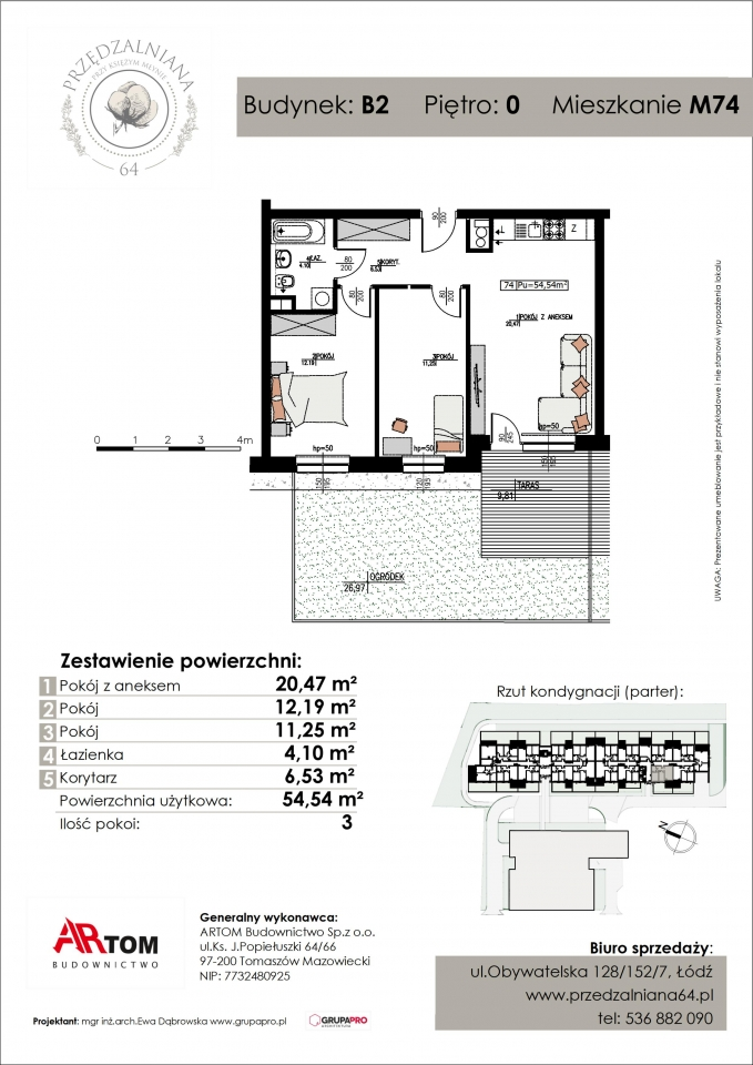 Apartament nr. M74