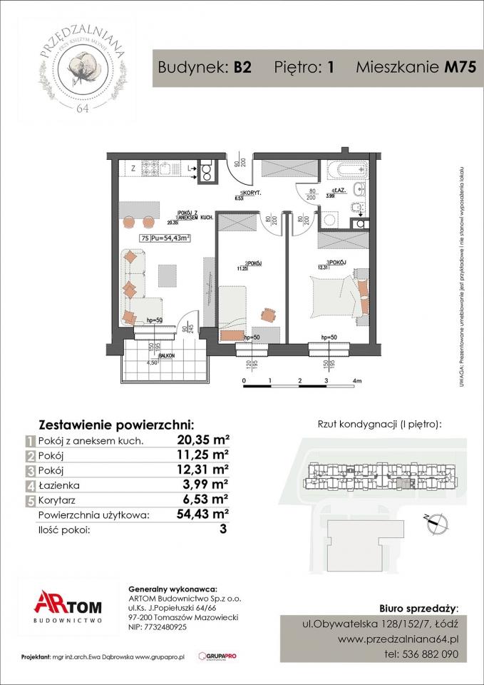 Apartament nr. M75