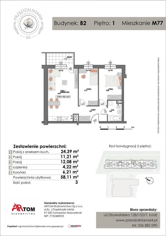 Apartament nr. M77