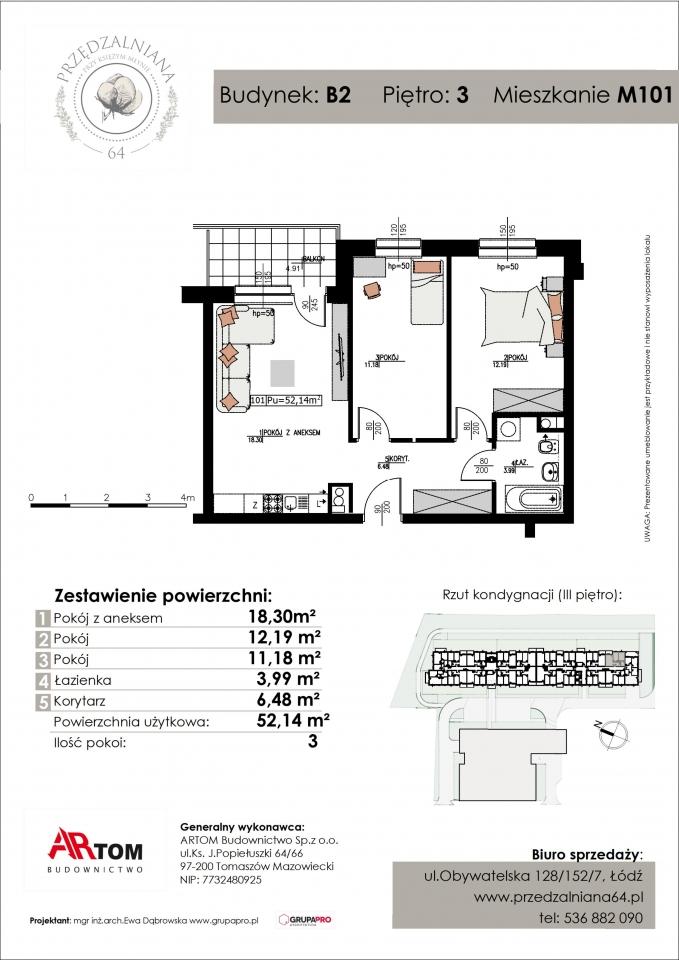 Apartament nr. M101