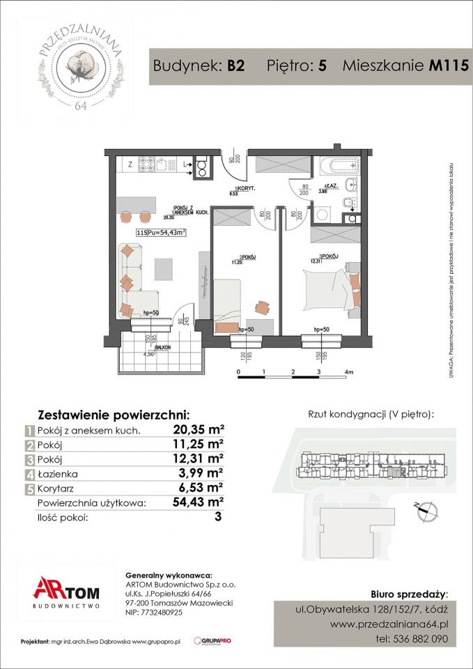 Apartament nr. M115