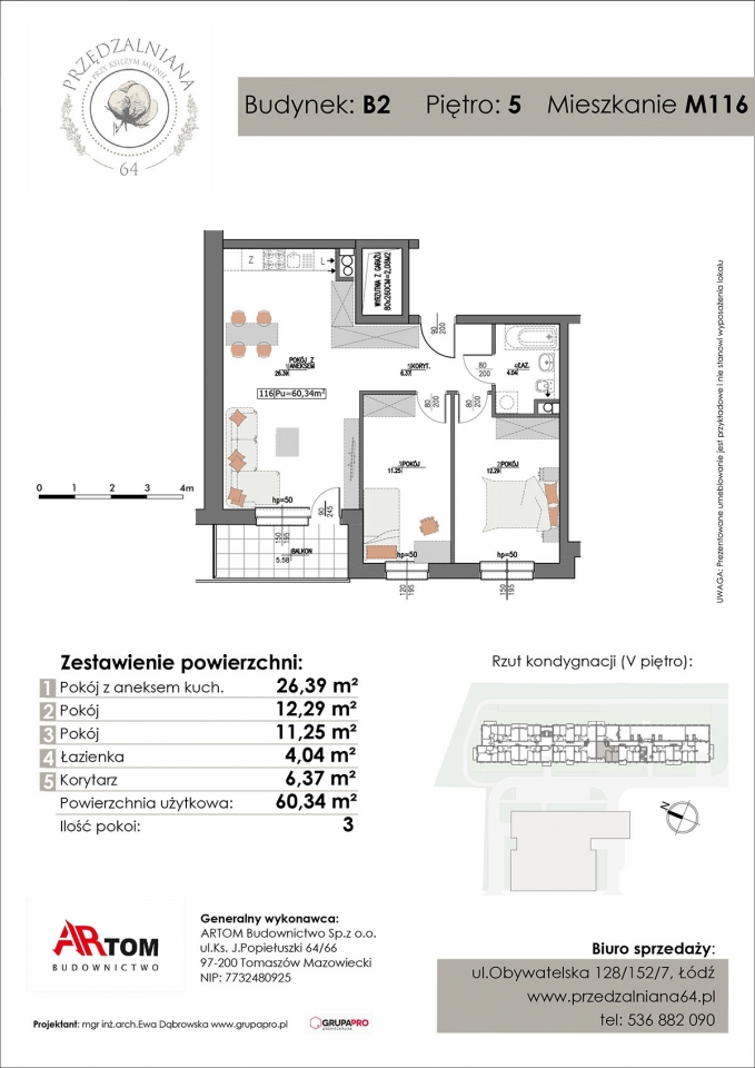 Apartament nr. M116