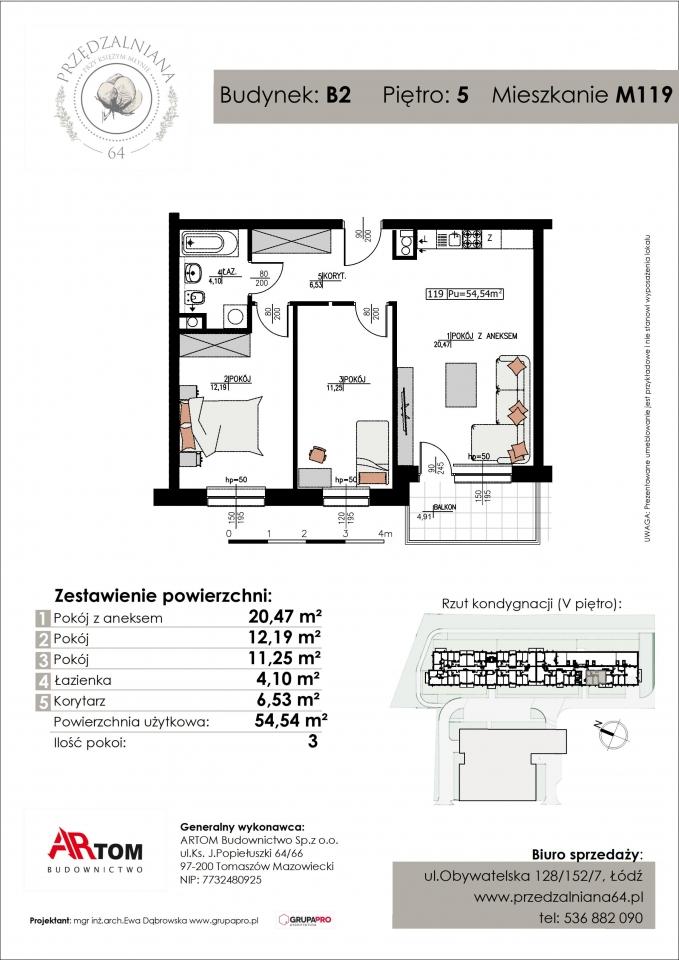 Apartament nr. M119