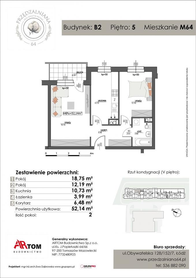 Apartament nr. M64