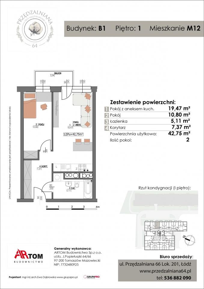 Apartament nr. M12