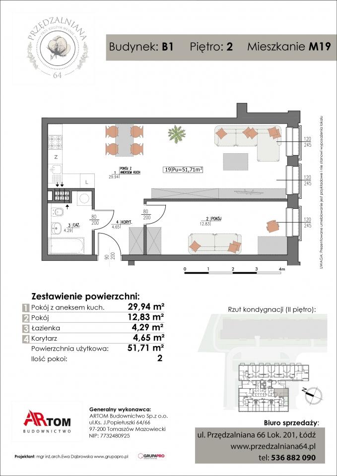 Apartament nr. M19