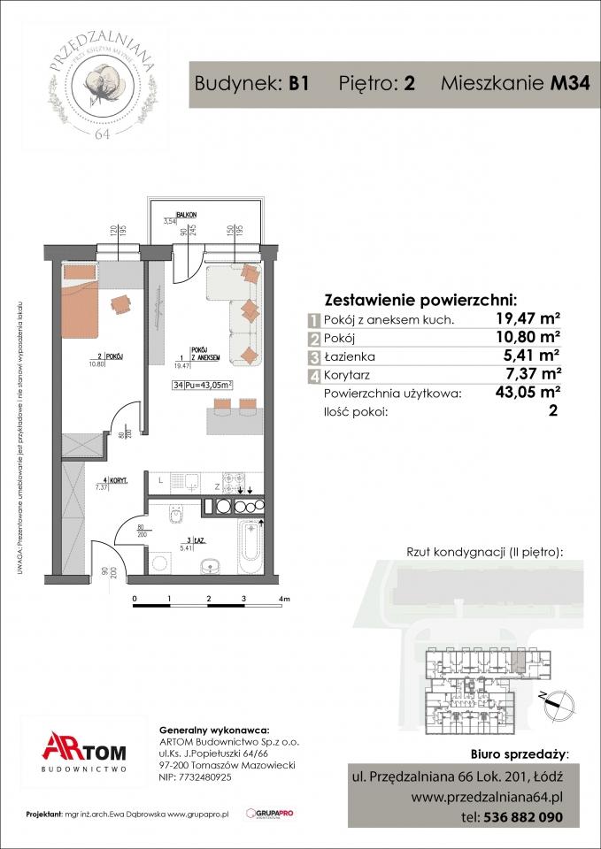 Apartament nr. M34