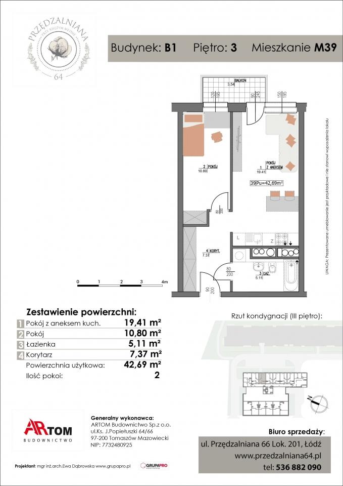 Apartament nr. M39