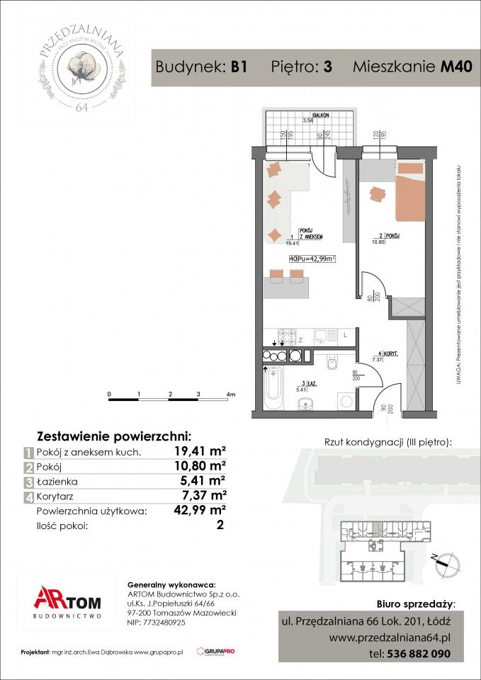 Apartament nr. M40