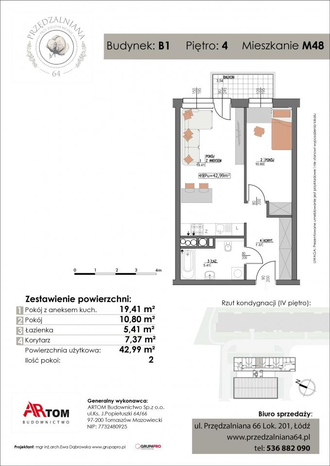 Apartament nr. M48