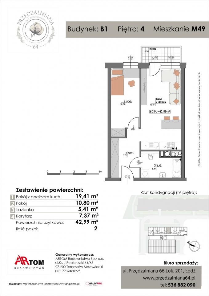 Apartament nr. M49