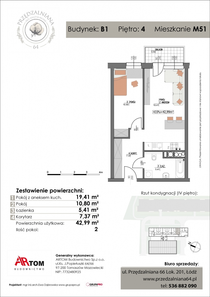 Apartament nr. M51