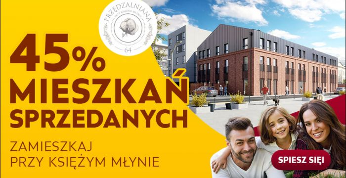 45% mieszkań już sprzedanych!